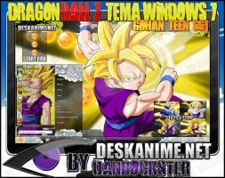 Gohan Teen SSJ Theme Windows 7 by Danrockster