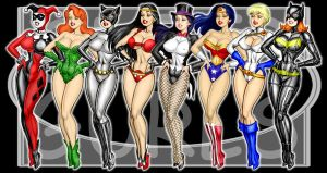 DC Pinups by Mythical-Mommy