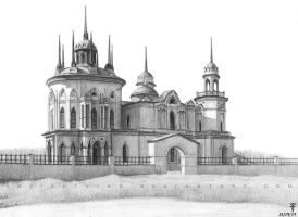 Neo-Gothic church sketch by AncientKing