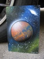 Mini Celestial Spray Painting4 by Christine-Eige