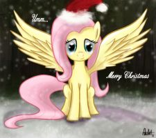 Merry Christmas, Fluttershy by aJVL