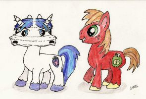 Shining Armor and Big Macintosh thingy by CobaltBrony