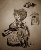 4th Doctor Doodle by surrenderdammit