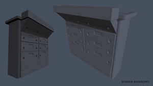 High Poly Drawers by Rubber-Rainbows