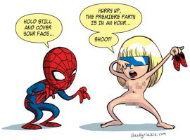 Spider-man and Lady Gaga by iliaskrzs