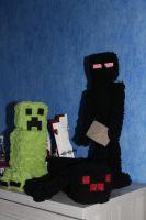 Minecraft plushies by Smibby