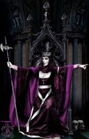 Queen Of Spades Enthroned by BlackWolf-Studio