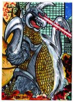 Godzilla Contest Gigan Puzzle Card 1 of 4 by fbwash