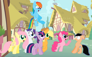 Danny meets The Mane Six by SilverBulletDash9000
