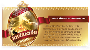 Invitacion e Informacion para Awards by DaniMonsterEditions