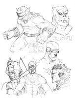 MARVEL AND DC CHARACTERS by COUNTPAGAN