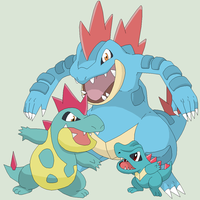 Pokemon Base 54~Totodile Evolution~ by Xbox-DS-Gameboy