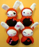 Bunnies with Personality by vrlovecats