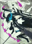 Black Rock Shooter and White Rock Shooter by BDOG375