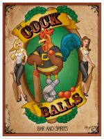 Cock And Balls Bar Art by Mike Shampine by mikeshampine