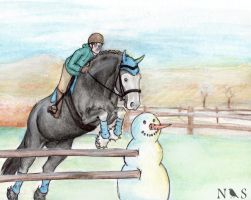 Winter Snow Show - Devil by NightingaleStables