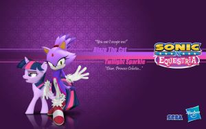 Sonic X Equestria: Blaze and Twilight Sparkle by Fuzon-S