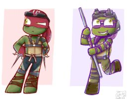 Don and Raph by ChiiChii97