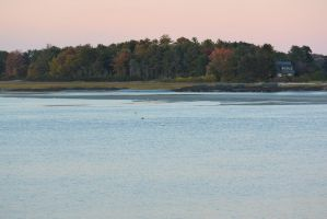Calm Autumn On the Water, Sunset 2 by Miss-Tbones
