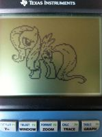 Graphing Calculator Ponies - Fluttershy by alxg833