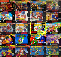 Mario's Super Nintendo Games by sonictoast