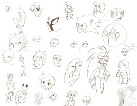 My Random Sketches by Tauberpa