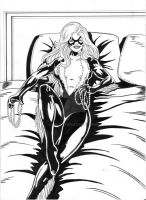 Black Cat 9-10 ink by hdub7