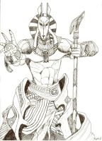 Anubis Crosshatch by WerecatWarrior