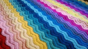 Rainbow ripple blanket. by Anitadoma