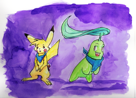Chika and Pikapi by Flame-Shadow