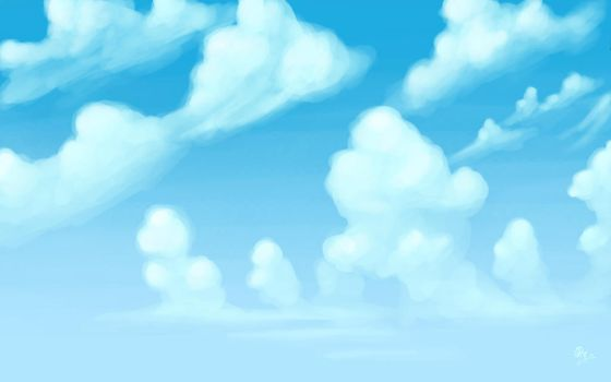 Cloud Study by Ellybethe