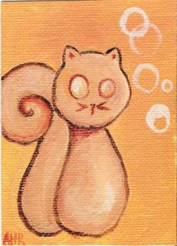 Never trust a squirrel - ACEO by ashling