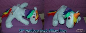 Rainbow Dash Pillow Pony by RegulusBlack