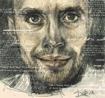 man with words by DariaGALLERY