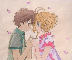 Sakura and Syaoran-Spring by Arwen-chan