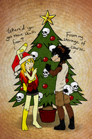 Dat Christmas card I made a while ago by SilverfanNumberONE