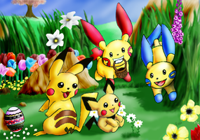 Pokemon Spring Scene by Arbre