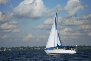 Sailboat Over Lake Michigan 8 by StripedDemon