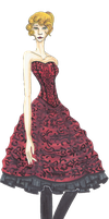 Red Prom Dress Croquis by Betwixt779
