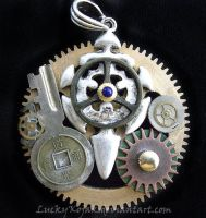Cog necklace by LuckyKojak