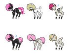 Wooden x Uwe Foals -2 left- (open) by Rainbows-Lover