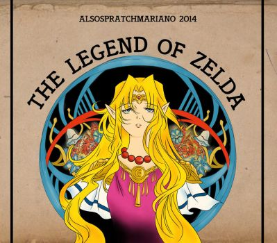 The Legend of Zelda art noveau style by AlsoSpratchMariano