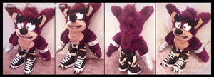 Commission: Crunch Bandicoot Plush Doll by Sarasaland-Dragon