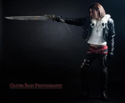 Squall studio photo with gunblade by aefyn