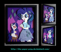 11x14 EqG Rarity and Filly Shadowbox by The-Paper-Pony