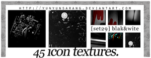 45 icon textures - blakn'wite by yunyunsarang
