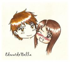 EdwardXbella Cartoon by IbiteXmeI
