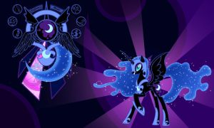 Nightmare Moon Wall by Evilarticfox