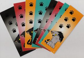 Emo The Cat bookmarks by RavenGuardian13