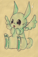 Flying mint Bunny by PikaIsCool